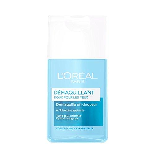 L'Oréal Paris Desmaquillante de ojos suave, 125 ml, lote de 2