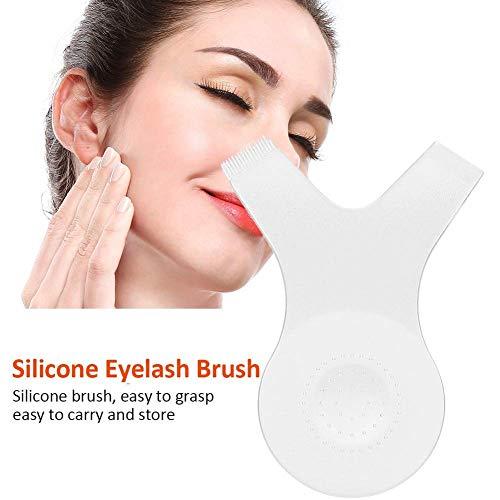 Pincel de pestañas, cepillo de silicona Hot Eyelash, herramienta auxiliar de pestañas de injerto tipo Y 10 unids/bolsa
