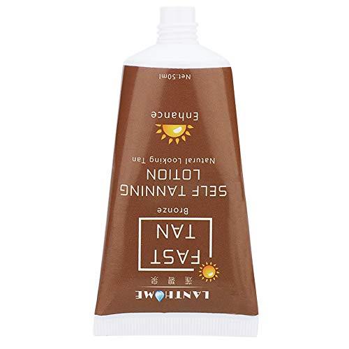 Crema bronceadora, gel bronceador para rostro y cuerpo, loción autobronceadora, bronceador bronceador natural bronceador, para bronceado al aire libre y bajo techo