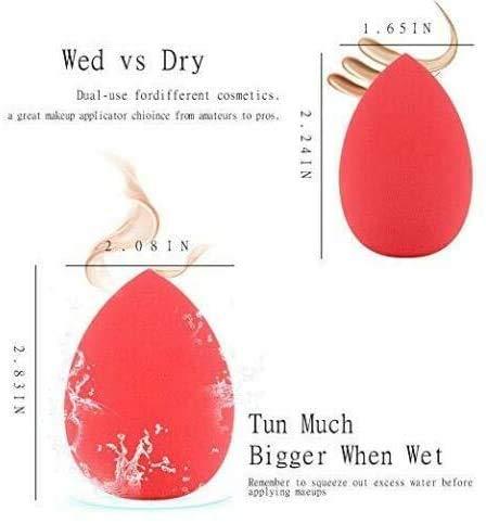 Juego de 6 esponjas de maquillaje sin látex, esponjas aplicadoras para base de maquillaje