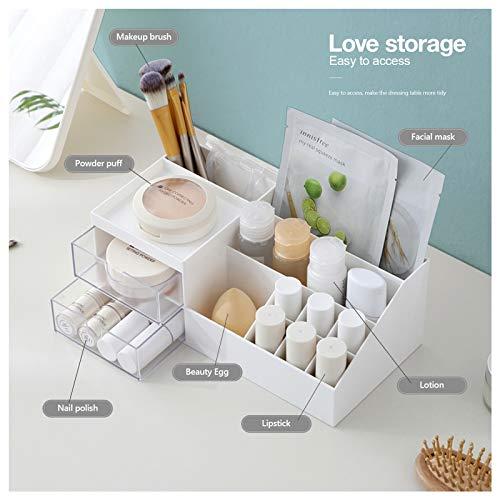 Subsky Organizador de Maquillaje con cajones, Almacenamiento de Maquillaje, Organizador de tocador para cosméticos, Caja de Maquillaje con cajones para tocador, Dormitorio, baño