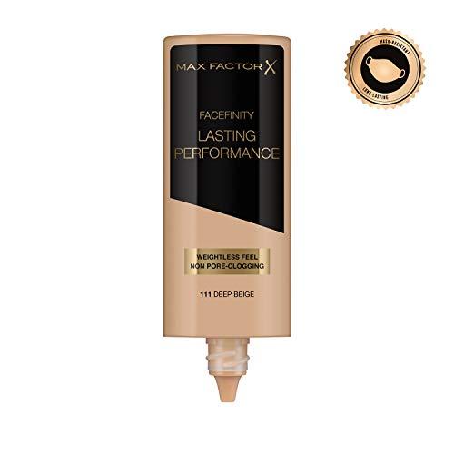 Max Factor Lasting Performance Base De Maquillaje Líquida Tono 111 Deep Beig - 35 ml
