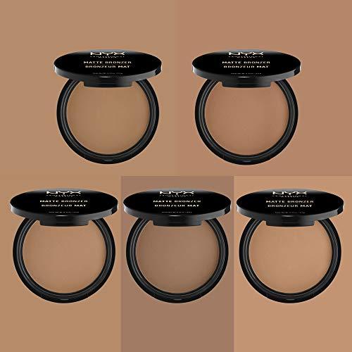 NYX Professional Makeup Polvos bronceadores Matte Bronzer, Polvos compactos, Sin brillos, Fórmula vegana, Tono: Light