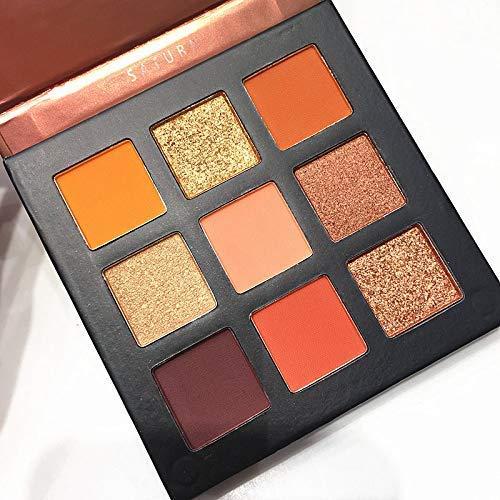 Beauty Glazed Paleta de sombras de ojos de 9 colores Cosméticos Maquillaje Paleta de sombra de ojos con brillo natural mate y brillo impermeable # 2