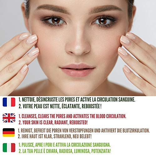 Moobo® - Caja que contiene 2 esponjas exfoliantes faciales konjac, 4 esponjas de celulosa natural, 1 guante de lufa, Zero waste, una esponja limpiadora de maquillaje y un desmaquillador lavable