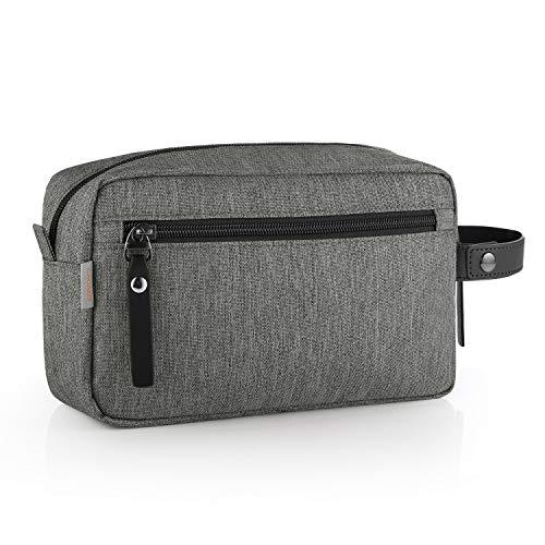 GAGAKU Hombre Dopp Kit Impermeable Neceser Bolsa de Aseo Neceser de Viaje Bolsa de Cosmético - Gris