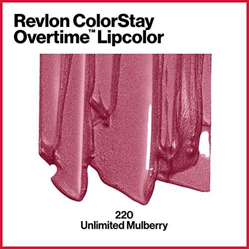 Revlon ColorStay Overtime Pintalabios Larga Duración (#220 Unlimited Mulberry)