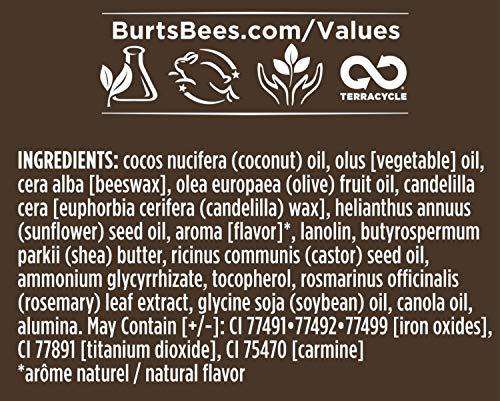Burt's Bees Balsamo labial con color 100% natural, hibisco con ceras botnicas y manteca de karit - 1 tubo (4.25 g)