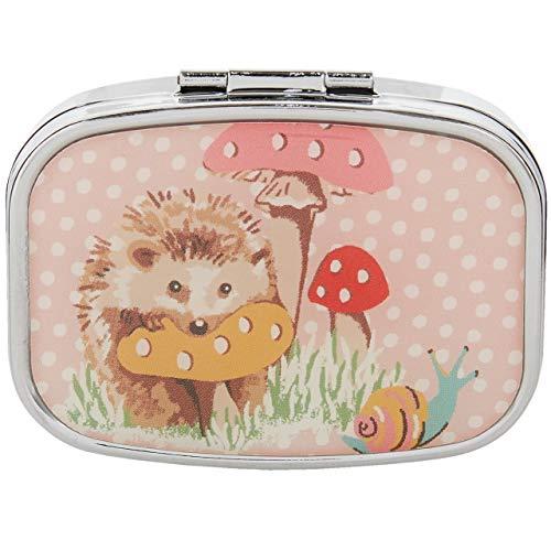 Cath Kidston Beauty Bálsamo labial compacto con espejo de erizos, 6 g