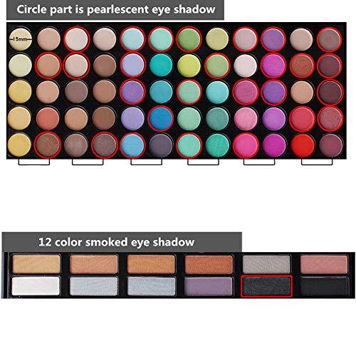 78 Colores Sombra De Ojos Paleta de Maquillaje Cosmética con Corrector y Rubor y Sombra De Ojos - Perfecto para Sso Profesional y Diario (Color 1)