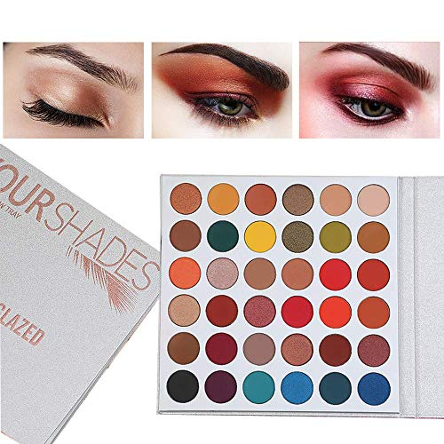 Beauty Glazed Maquillaje con brillo mate 36 colores Paleta de sombras de ojos Resaltador Brillo Maquillaje Pigmento Paleta de sombras de ojos Cosméticos