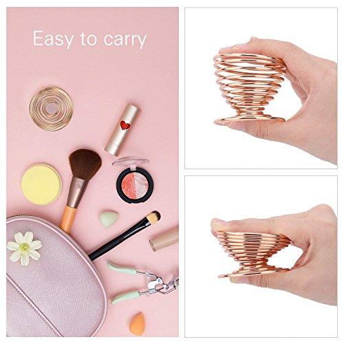 Juego de 3 esponjas para mezclar maquillaje - Esponja para base de maquillaje con soporte para esponja de huevo, impecable para líquidos y cremas y poderes