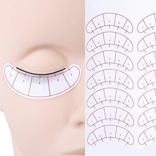 Practica Pestañas 25 pares Práctica de Entrenamiento Pestañas Tira de pestañas Autoadhesivas con 7 pares de Parches Oculares