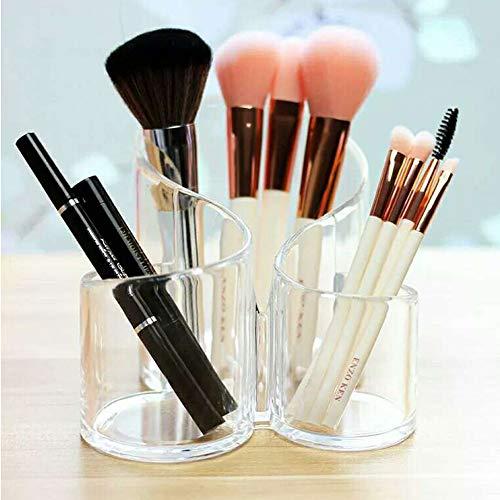 CINEEN Make Up Guardar acrílico – Organizador cosmético Pinceles Set Soporte Lápiz Soporte Vasos de Plástico Para Maquillaje y Maquillaje