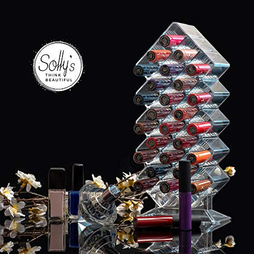 Solly´s Sarah - Organizador de Maquillaje para Barras de Labios, Acrílico, Transparente