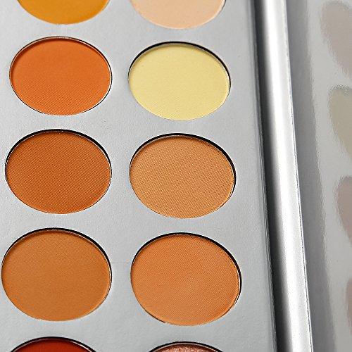 Paleta de maquillaje sombra de ojos, 35colores de sombra de ojos, metálicas y brillantes, muy pigmentadas, colores de otoño