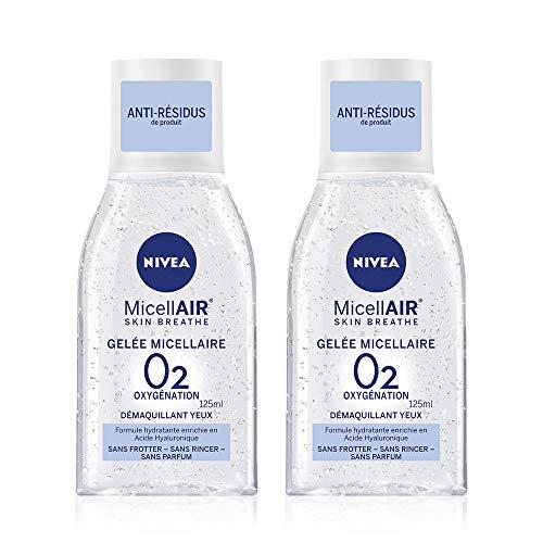 Nivea Visage micell Air Gel Desmaquillante al ácido hialurónico para ojos––Juego de 2