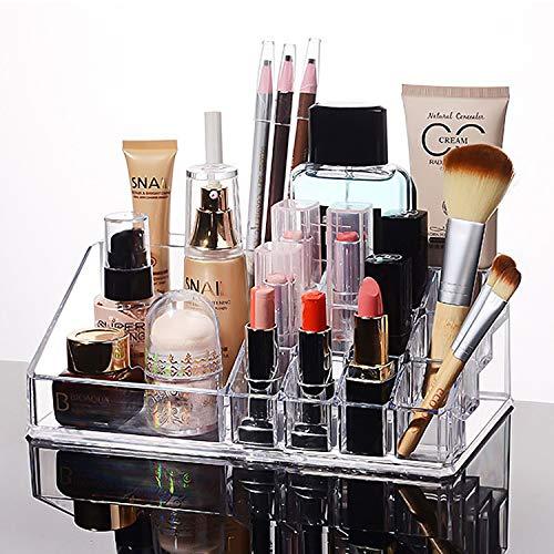 MOOKLIN ROAM Organizador de Maquillaje Caja Cosméticos Transparente Acrílico Joyería Organizador Maquillaje Exhibición de Estuche para Guardar cosméticos y Productos de Belleza