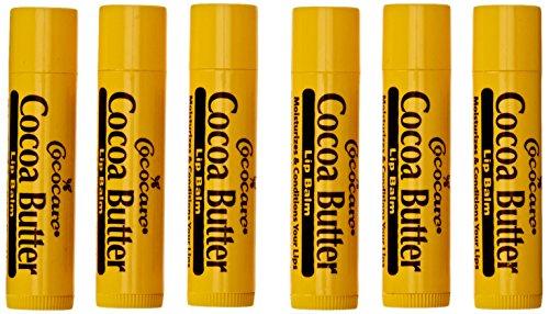 Bálsamo labial de mantequilla de cacao, 6 unidades