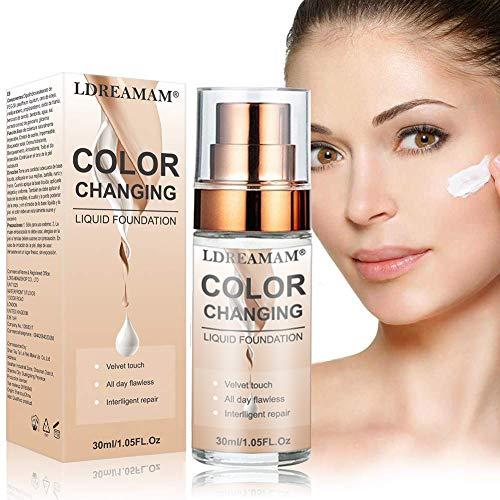 Base Líquida,Base de Maquillaje,Hidratante Líquido Base,Base de maquillaje Cobertura completa Nuevo,24H Base de Maquillaje de Larga Duración