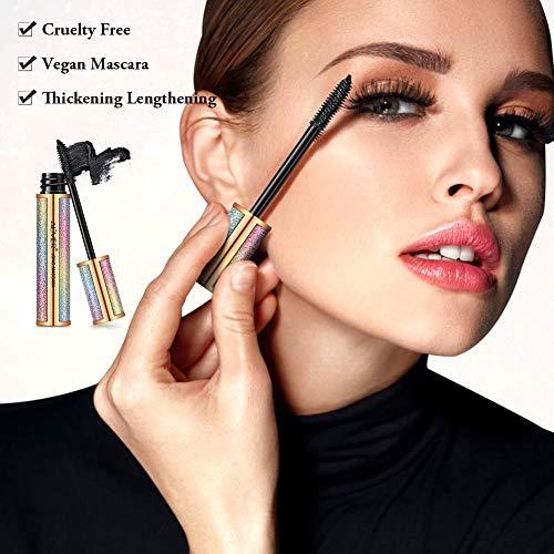 4D Silk Fiber Lash Máscara, 4D RíMel Resistente Al Agua, Extra Larga, MáS Gruesa, PestañAs Voluminosas, Duradero, Maquillaje Natural Para Ojos, Sin FloracióN