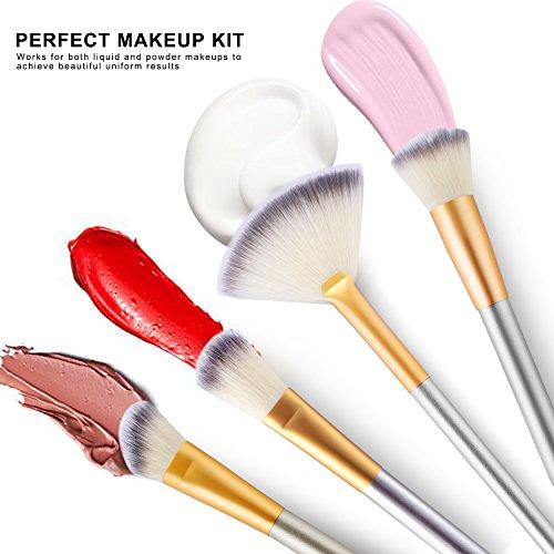 VANDER - Juego de 24 brochas de maquillaje, brochas de maquillaje profesional, sombra de ojos, delineador de ojos, corrector de labios, brochas de belleza con bolsa de maquillaje de viaje, champán