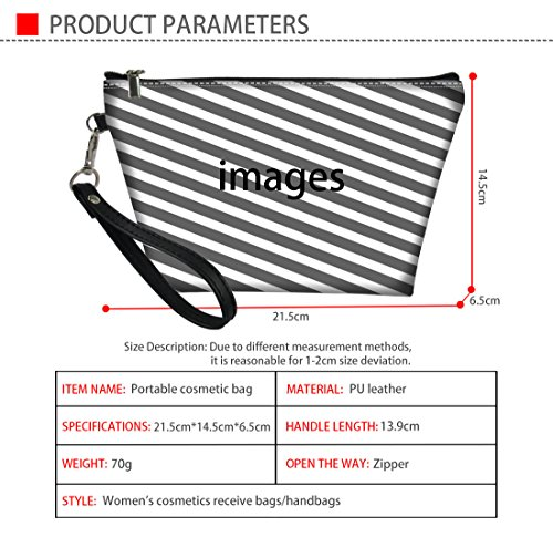 Showudesigns Cool Tiger Print - Estuche organizador de cosméticos trapezoidal de piel para mujer