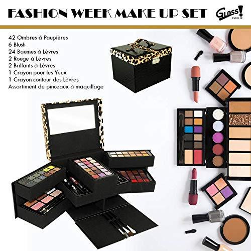 Gloss - caja de maquillaje, caja de regalo para mujeres - Funda de maquillaje - Colección de lujo - 87 piezas