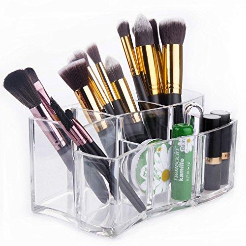 Organizzatore Trucco in Acrilico – Meersee Contenitori trucchi Cosmetic Organizer Porta pennelli trucco