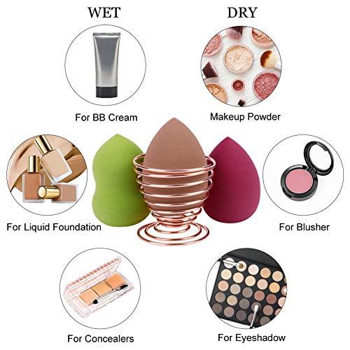 Esponja Maquillaje, Makeup Base de Blender Beauty, Facial Licuadora de Belleza con Soporte para Cremas, Polvo,Corrector, Sombra Ojos y Colorete, con Caja de Regalo