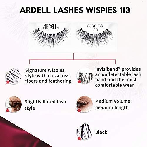 Ardell Wispies pestañas, número 113, pack de 4