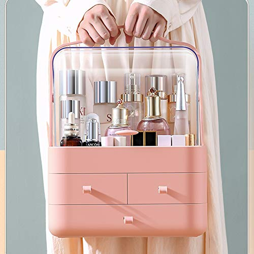 understand Kertou Organizador del Maquillaje, Cajas de Almacenamiento de Maquillaje, Organizador de joyería multifunción para Maquillaje, Cosméticos Joyería Organizador