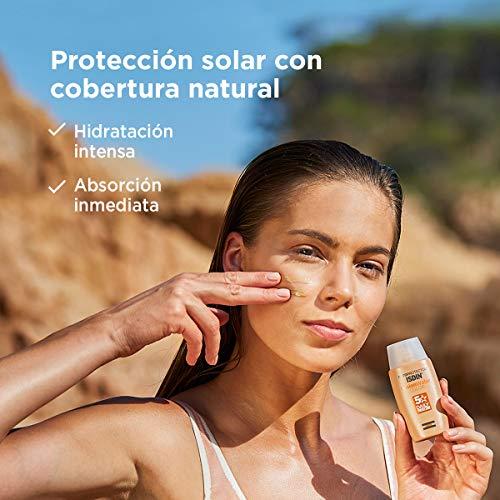 Isdin Fotoprotector Fusion Water COLOR SPF 50 - Protector solar facial de fase acuosa con color para uso diario, Cobertura natural, 50 ml