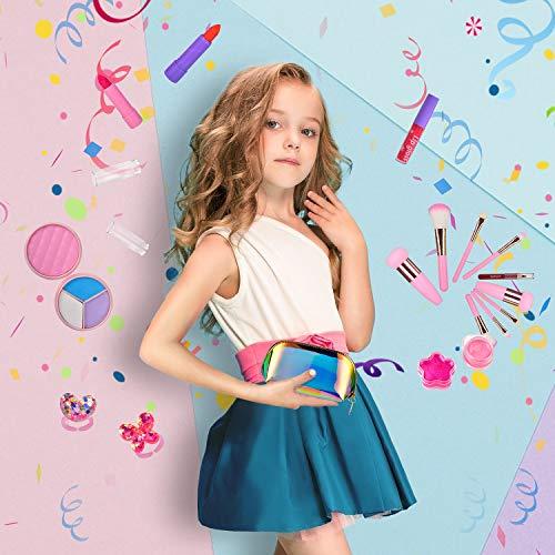 balnore Set de Maquillaje para niña de 21 Piezas de Maquillaje cosmético Lavable para niñas Maquillaje de Juguete para niñas Maquillaje niñas 3 años