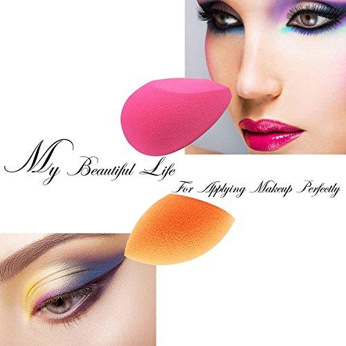 EmaxDesign Esponja Maquillaje 6 Piezas Esponjas Aplicadores de Maquillaje, Corrector, Polvo, Crema y Colorete Blender Esponjas ,sin látex.
