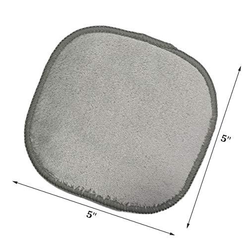 Polyte - Toalla facial desmaquillante de microfibra - Hipoalergénica y sin elementos químicos - Premium - Gris (13 x 13 cm) Pack de 10