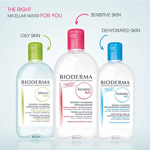 Bioderma Sensibio H2O, Limpiador Micelar y Desmaquillador, 250 ml