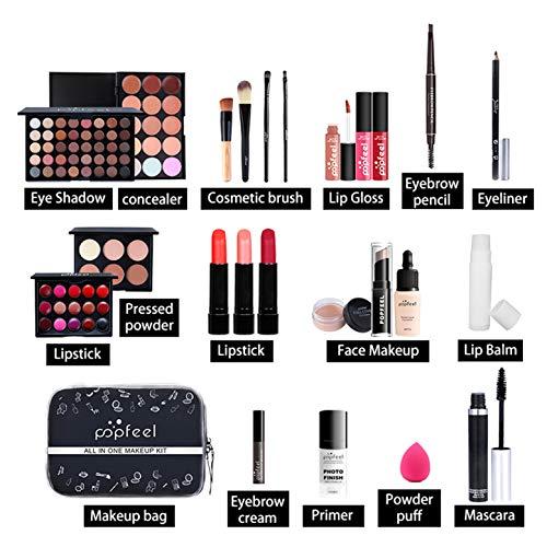 CHSEEO Paleta de Maquillaje Set Paleta de Sombras de Ojos, Juego de Maquillaje Kit de Maquillaje para Mujeres y Niñas Caja de Regalo Cosméticos #8