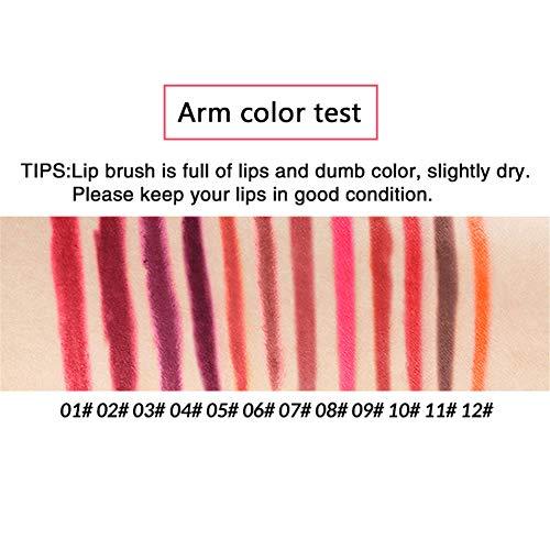 12pcs / Set impermeable L谩piz Delineador de labios de larga duraci贸n Lip Liner Herramientas del maquillaje