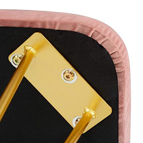 EUGAD Juego Mesa de Tocador con Taburete Acolchado de Terciopel y Espejo de Pared Tocador Moderno Escritorio con Espejo Mesa de Maquillaje con 3 Cajones Madera+Metal, Blanco+Oro 100x40x79cm 0017SZT