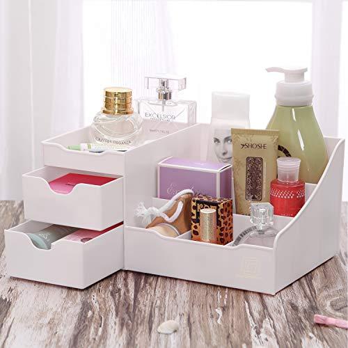 Uncluttered Designs Organizador de Maquillaje con Gavetas (Blanco)