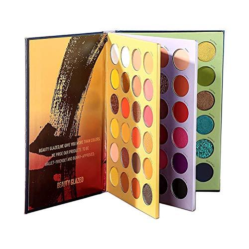 Beauty Glazed Nuevos tonos de color 72 colores en polvo prensado Sombra de ojos Maquillaje Brillo Brillo Paleta mate Disco Portátil Súper pigmentado Metálico Brillante Sombra de ojos mezclable