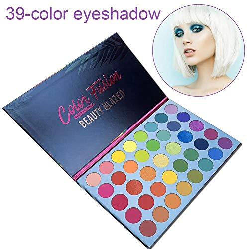 39 colores pop paleta de sombras de ojos con brillo mate pigmentado colorido paleta de maquillaje a prueba de agua de larga duración cosméticos metálico maquillaje natural en polvo de sombra de ojos