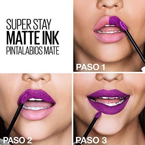 Maybelline New York SuperStay Matte Ink, Pintalabios Mate de Larga Duración, Tono 70 - Amazonian, Marrón Claro Nude