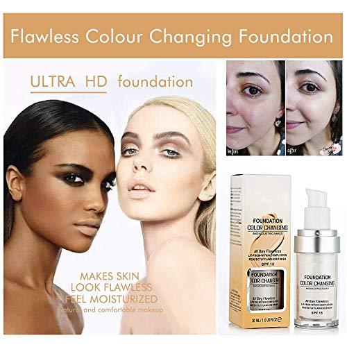 Base De Maquillaje, (2 Piezas) TLM Cubierta De Corrector, Base De Maquillaje De Base De Cambio De Color Impecable, Cobertura Completa, Larga DuracióN