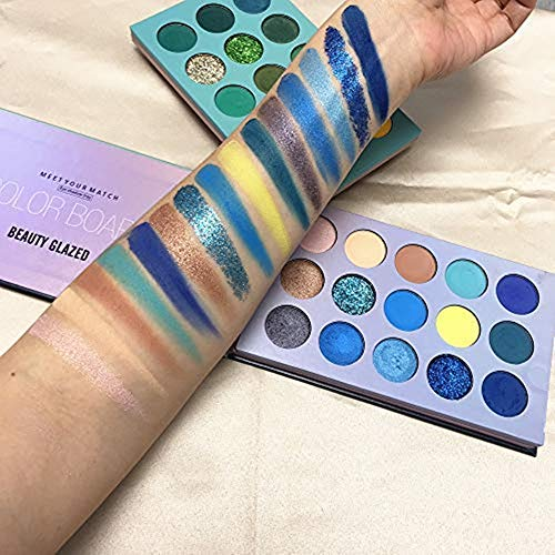 Kit de maquillaje esmaltado de belleza, sombra de ojos de 60 colores y pinceles de maquillaje de 5 piezas, paleta de maquillaje mate de sombra de ojos pigmentada con juego de pinceles de maquillaje