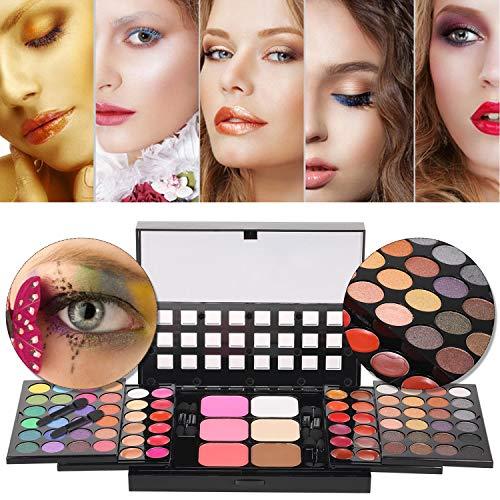 Anself Paleta de Correctores, 78 Colores Juego de Maquillaje Set de Sombras de Ojos Todo en 1con 8 Cepillos
