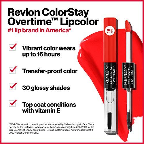 Revlon ColorStay Overtime Pintalabios Larga Duración (#010 Non-Stop Cherry)