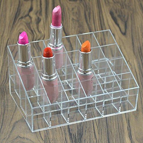 Organizador de maquillaje transparente, expositor de cosméticos, pintalabios