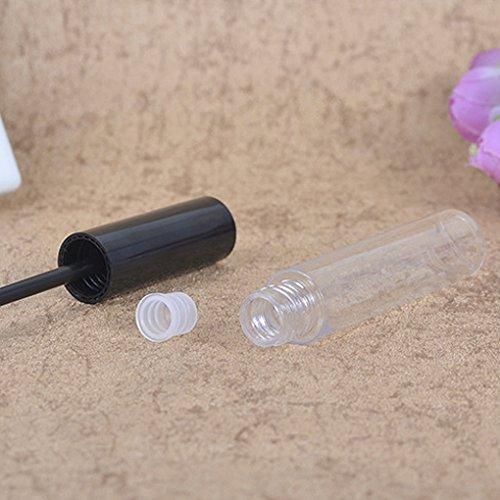 wufeng Cap Negro 10ml del rimel Botella vacía del Tubo Vial de Maquillaje de Ojos de pestañas Transparente Crema Embudo de dispensación de pipetas de contenedores